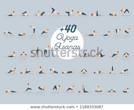 establecer · mujer · meditando · yoga · nina · salud - foto stock © anastasiya_popov
