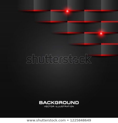 Abstract 3d fold paper geometric pattern luxury dark black with red shiny light Stock photo © kang1993