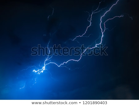 lightning flash on black background stock photo © kayros