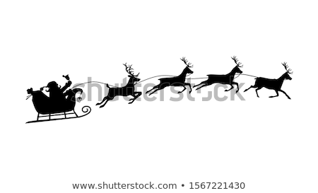 Vector Shopping Sled with Christmas Decorations Stock photo © dashadima
