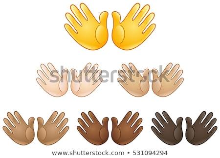 Hände Lob Taube Illustration weiß unter Stock foto © lenm