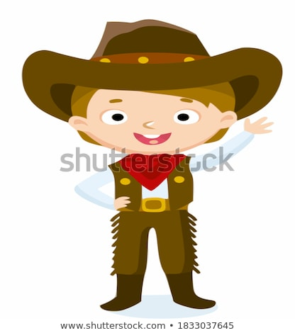 Angry Cartoon Boy Cowboy Stock photo © cthoman