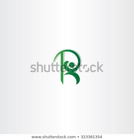 letter r green man logo vector icon element Stock photo © blaskorizov