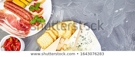 italien · antipasti · vin · collations - photo stock © illia