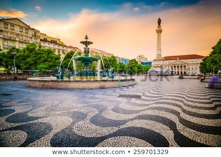 Lisboa crepúsculo Portugal vista barrio antiguo arquitectura Foto stock © joyr