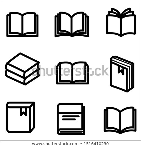 Office Paper and Bookmark in Book Icons Set Vector Stock photo © robuart