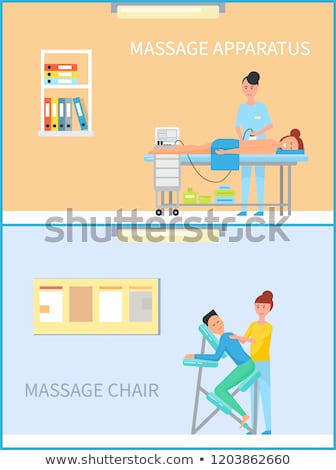 Massage on Apparatus, Special Machine Chair Vector Stock photo © robuart