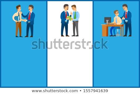 working order and work task good job instruction stok fotoğraf © robuart
