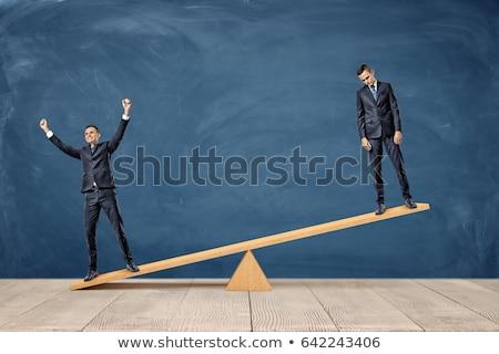 счастливым печально два бизнесмен бизнеса Финансы Сток-фото © rogistok