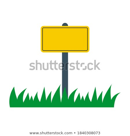 A high billboard in the grass at the roadside Stock photo © Ustofre9