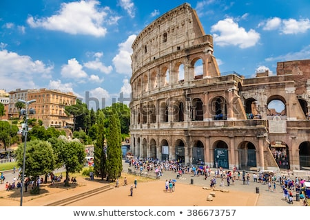 ярко солнце Колизей древних утра Рим Сток-фото © Givaga