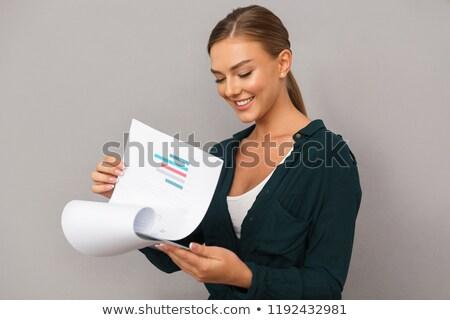 conmocionado · documentos · sesión · mesa - foto stock © deandrobot