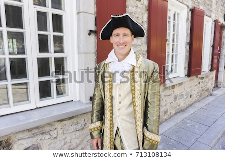 man dressed as a courtier or prince in the Quebec city Stock photo © Lopolo