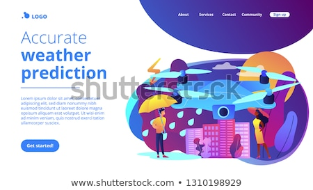 Meteorology drones concept landing page. Stock photo © RAStudio