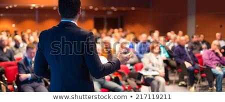 Affaires séminaire affaires écouter vecteur présentation Photo stock © robuart