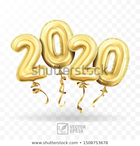 Realistisch gouden ballonnen decoratie gelukkig nieuwjaar viering Stockfoto © MarySan