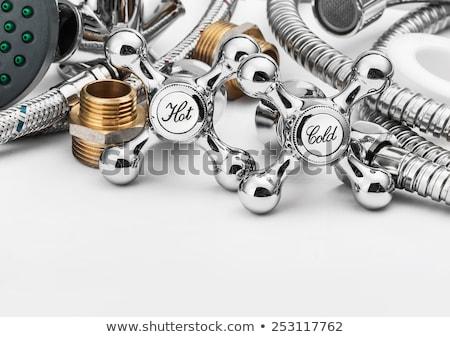 Plumbing tools in the bathroom . Stock photo © Kurhan