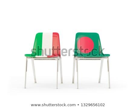 два стульев флагами Италия Бангладеш изолированный Сток-фото © MikhailMishchenko