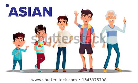 Generation männlich Menschen Person Vektor asian Stock foto © pikepicture