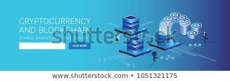 Money transfer isometric 3D banner header. Stock photo © RAStudio
