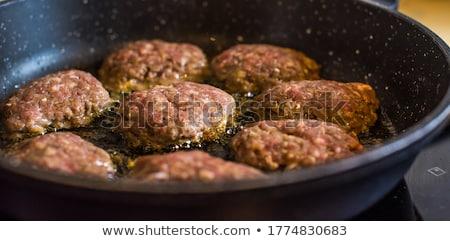 lassú · főtt · marhahús · orcák · baba · spenót - stock fotó © tycoon