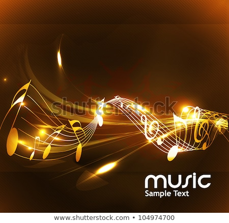 Sound wave with musical notation. Note sheet vector background Stock photo © Andrei_