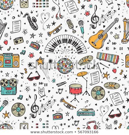 サクソフォン 音符 実例 音楽 背景 芸術 ストックフォト © colematt