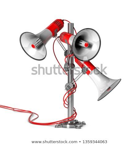 Marketing comunicazione illustrazione 3d tre polo bianco Foto d'archivio © olivier_le_moal