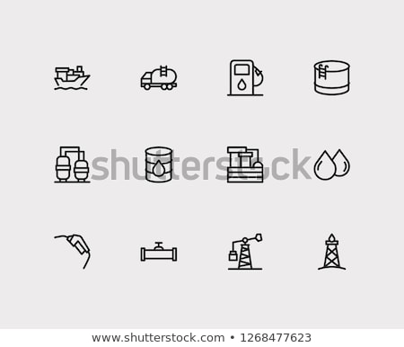 Foto stock: Óleo · tanque · armazenamento · ícone · cor · projeto