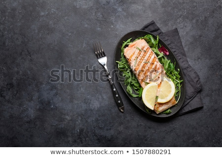 Grilled salmon fish fillet Stock photo © karandaev