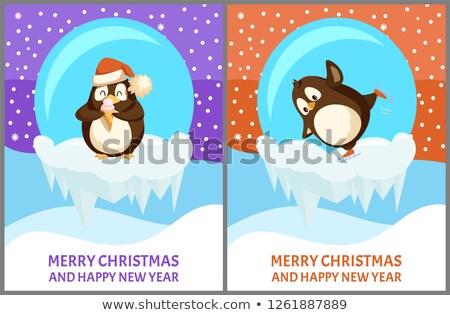 Komik şapka dondurma vektör Stok fotoğraf © robuart