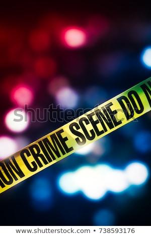 Diefstal scène politie criminelen illustratie muur Stockfoto © colematt