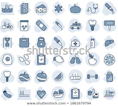 ícone sombra azul médico corpo hospital Foto stock © Imaagio