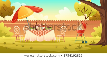 Barbeque Party Cookout and Grilling Banner Vector Stock photo © robuart