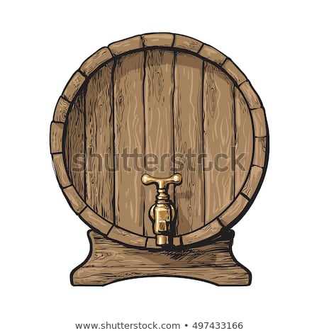 Vintage Drawn Barrel With Tap For Liquid Vector Stock photo © pikepicture