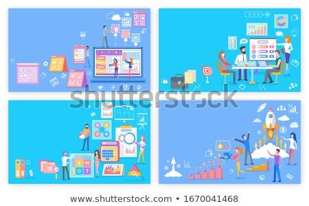 Software proposta analisi crescita strumenti business Foto d'archivio © robuart