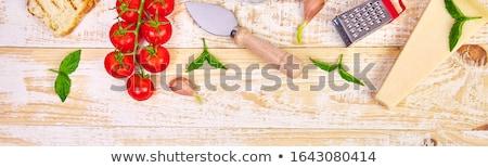 İtalyan gıda hazır pişirme gıda çerçeve malzemeler Stok fotoğraf © Illia