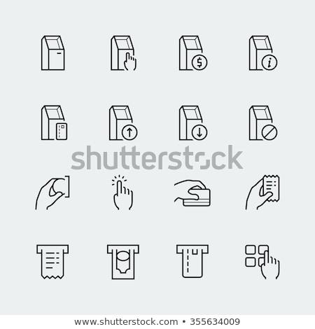 Austausch · Geld · Symbol · Vektor · Gliederung · Illustration - stock foto © pikepicture
