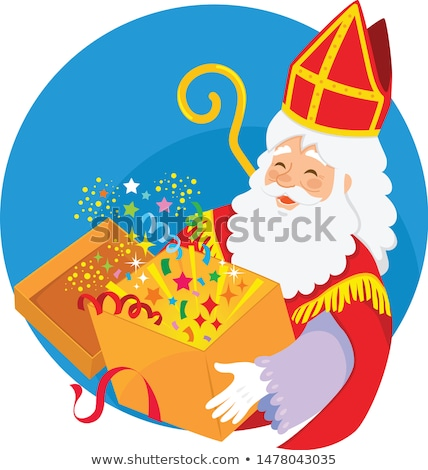 Vak gelukkig cartoon magisch partij Stockfoto © ayelet_keshet