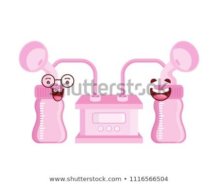 Elektryczne piersi pompować ikona kółko szablon Zdjęcia stock © angelp