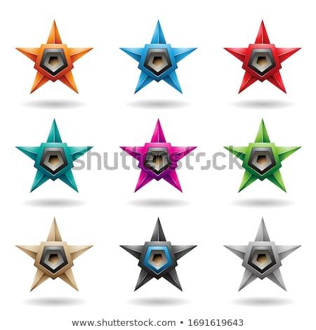 Csillagok szürke hangfal formák vektor izolált Stock fotó © cidepix