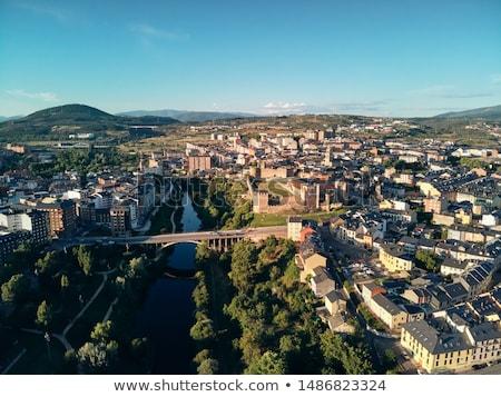城 フランス語 方法 サンティアゴ 徒歩 ストックフォト © diego_cervo