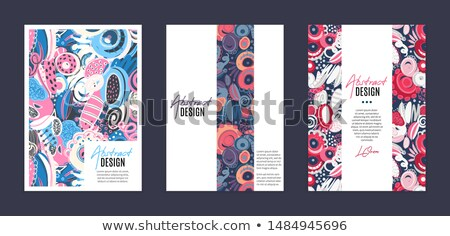 Set of vector templates. Hand drawn abstract shapes, scribbles, spirales. Stains and spots of paint Stock photo © user_10144511