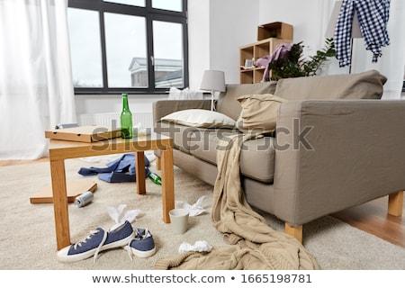 Interieur rommelig home kamer puinhoop wanorde Stockfoto © dolgachov
