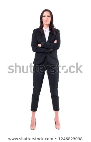 portrait of confident businesswoman looking straight stock photo © lichtmeister