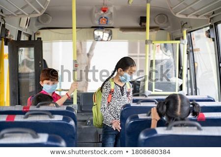 Schoolbus leerlingen kinderen onderwijs vervoer vector Stockfoto © robuart