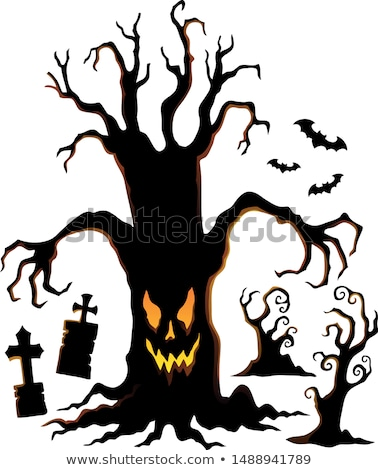 Spooky tree silhouette topic image 1 Stock photo © clairev
