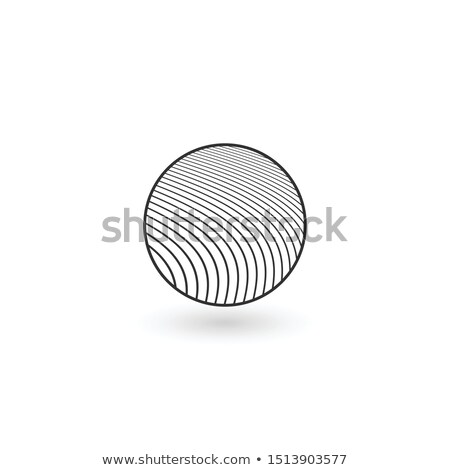Design round Geometric identity Logo Design Template with circled lines inside. Business Linear logo Stock photo © kyryloff