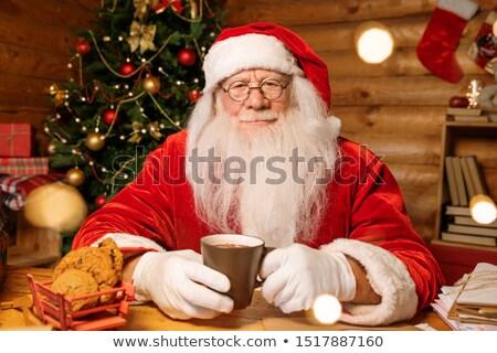 белый борода горячей чай кофе Сток-фото © pressmaster