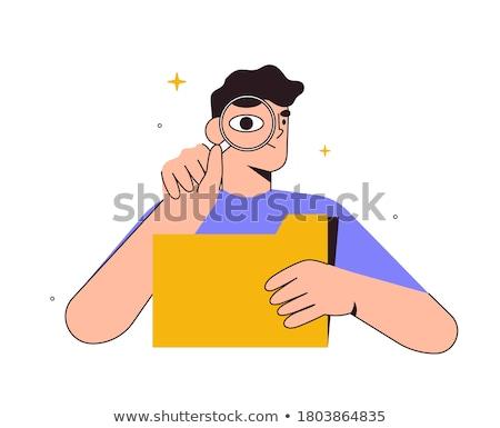 Information storage, files folder vector concept metaphor. Stock photo © RAStudio